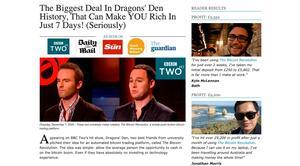 dragons den bitcoin trader show