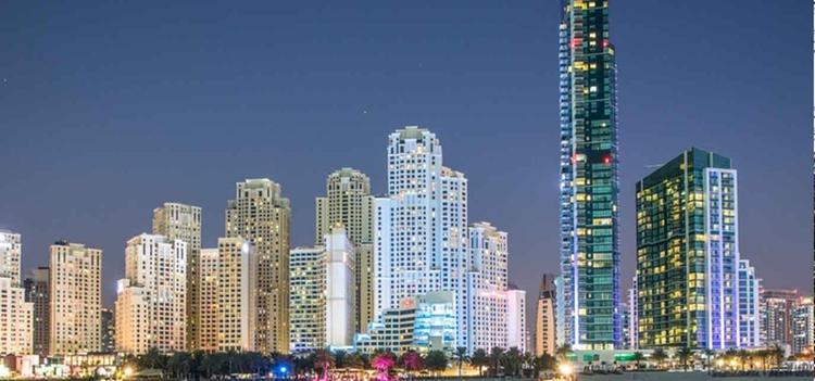 The Dubai waterfront skyline