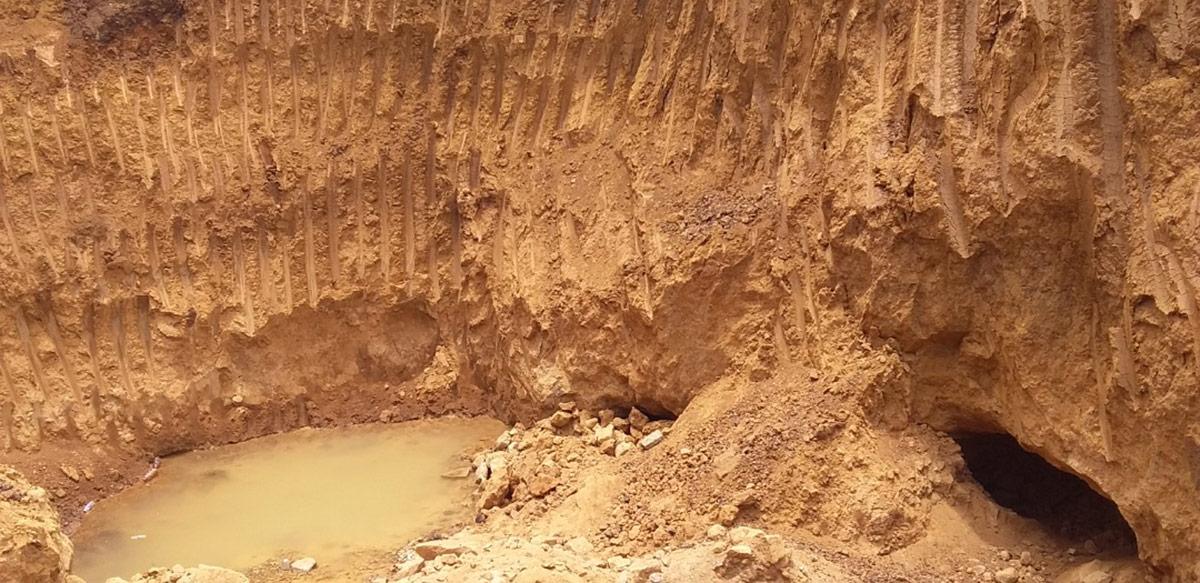 A mining pit