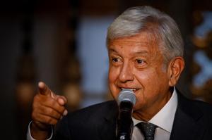 Andres Manuel Lopez Obrador delivers speech
