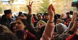 Fatima Movlamli is seen in a crowd of people
