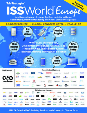The frontpage of the ISS World Europe advertisement