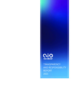 The frontpage of the NSO Transparency Report 2021