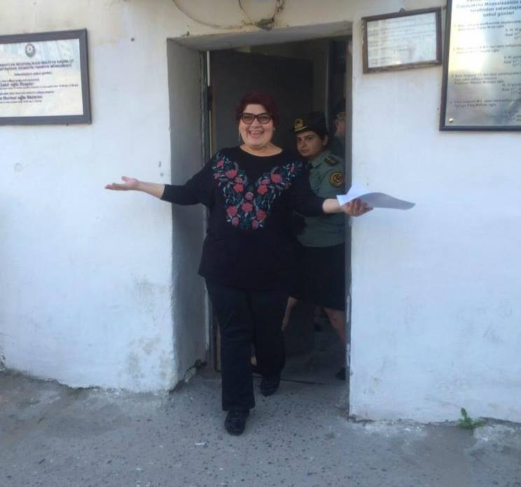 Khadija Ismayilova released from prison (Photo: Meydan TV)