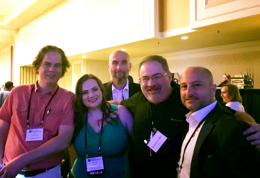 From left to right: Ola Westerberg, Miranda Patrucic, Joachim Dyfvermark, Drew Sullivan and Lorenzo Di Pietro