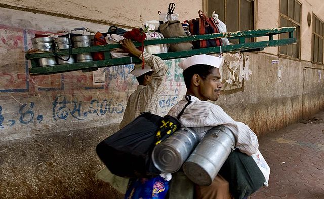 640px-Mumbai Dabbawala or Tiffin Wallahs- 200000 Tiffin Boxes Delivered Per Day