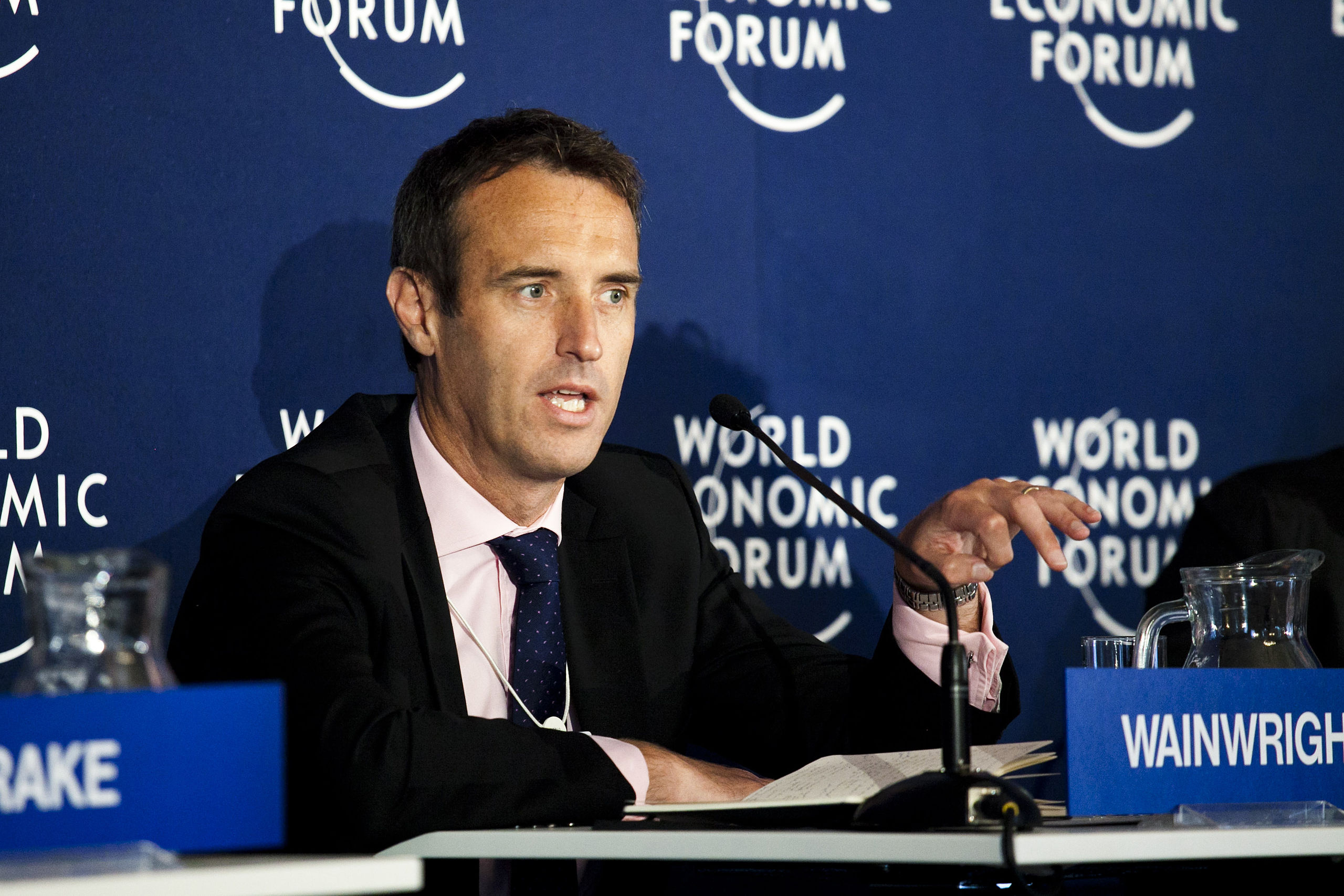 Director Wainwright at the World Economic Forum