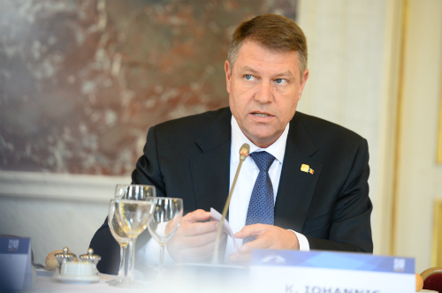 Klaus Iohannis at EPP Summit March 2015 Brussels