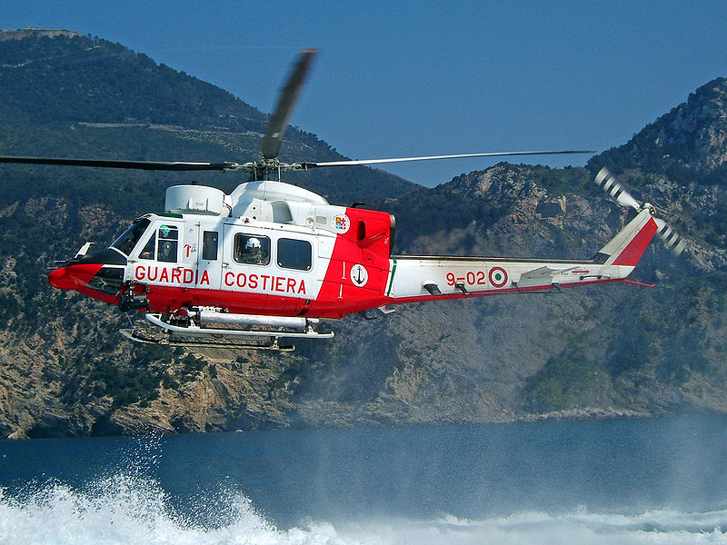 Italy Coast Guard Helicopter