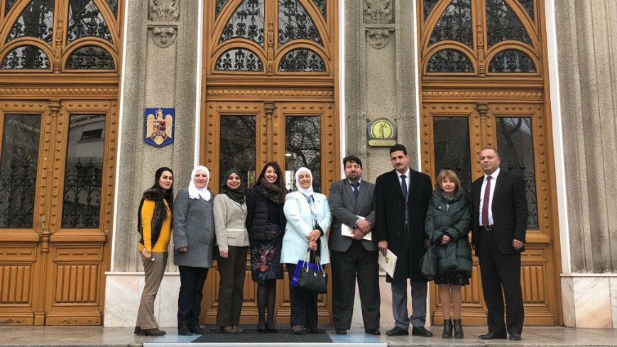 Officials of the Jordanian Integrity and Anti-corruption Commission on a study visit to Bucharest, Romania in March 2019. Credit: Council of Europe
