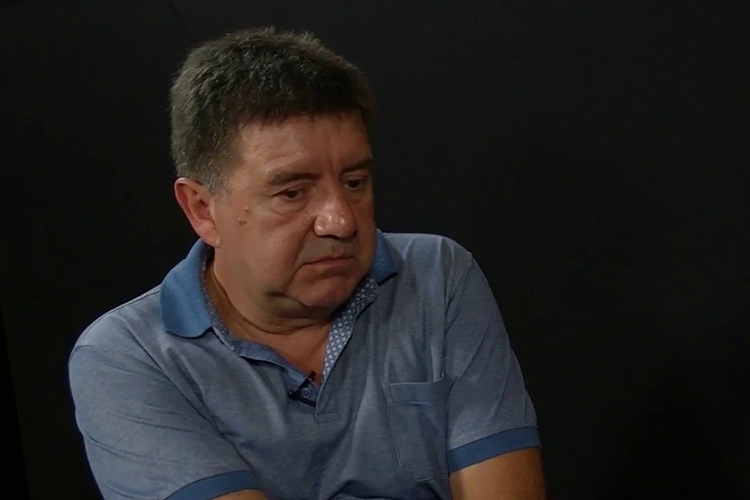 Gjorgi Lazarevski, a former Macedonian intelligence officer who helped expose a massive wiretapping scheme that brought down the government.  (Credit: Nova TV)