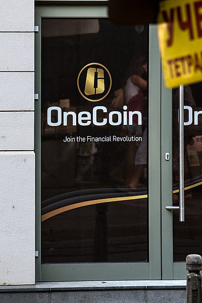 400px-OneCoin logo on their office door in Sofia Bulgaria