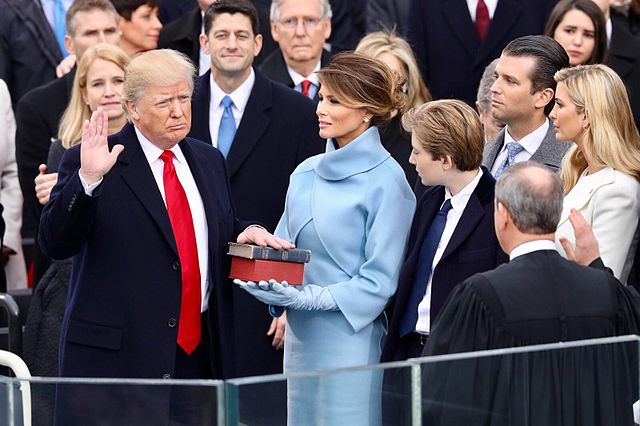 US President Donald Trump at his inauguration (White House)