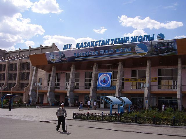 640px-Railway station of the city of Shu Kazakhstan