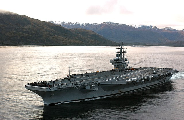 The USS Ronald Reagan, which was serviced by Sung-Yol Kim's husbanding company (Elizabeth Thompson, Public Domain)