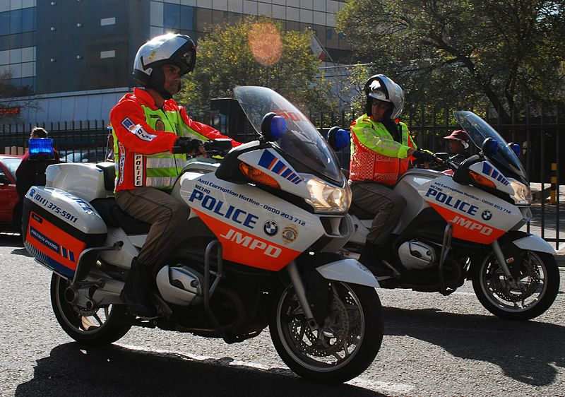 800px-Police motorcycles in South Africa