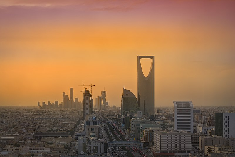 800px-Riyadh Skyline showing the King Abdullah Financial District KAFD and the famous Kingdom Tower