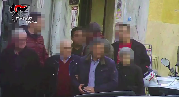 Surveillance footage taken during the investigation leading to the arrest of Settimino Mineo (From: Carabinieri Palermo)