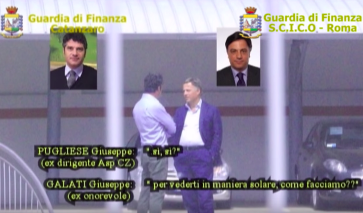 Galati and Pugliese allegedly discussing the health care fraud (Guardia Di Finanza)