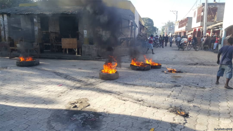 Haitian protests (source: www.voanews.com