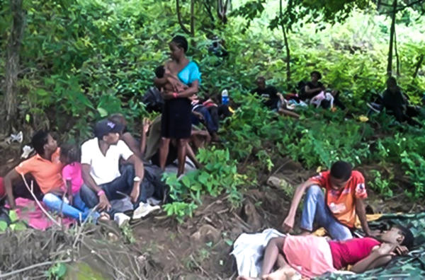 Police in Nicaragua rescued African and Haitian migrants left behind in the mountains by smugglers. (From: Interpol)