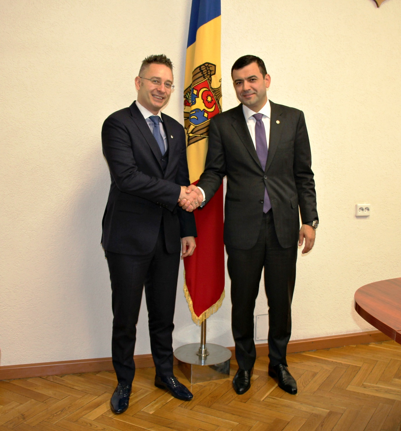 MARCO GANTENBEIN henly and Chiril Gaburici moldovan minister of economy mei.gov.md