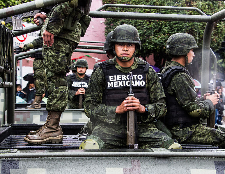 Mexican army soldier