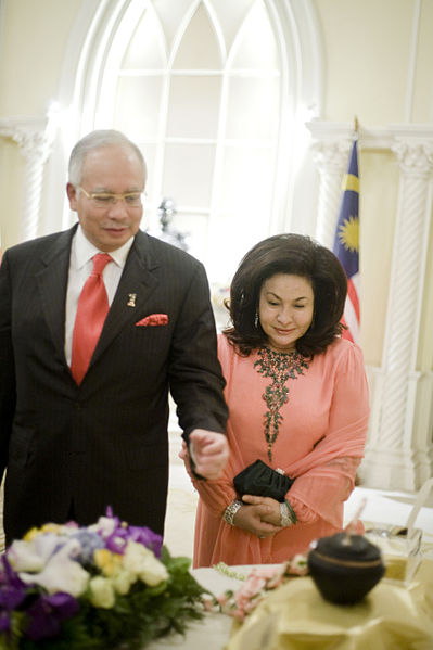 Najib Razak and Rosmah Mansor during a visit to Thailand (The Prime Minister of Thailand Office)