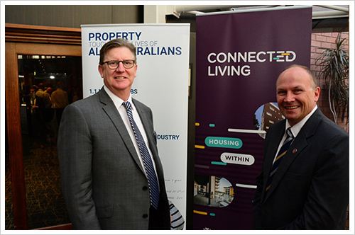 Paul Whyte (left), in 2015. (Photo: housing.wa.gov.au)