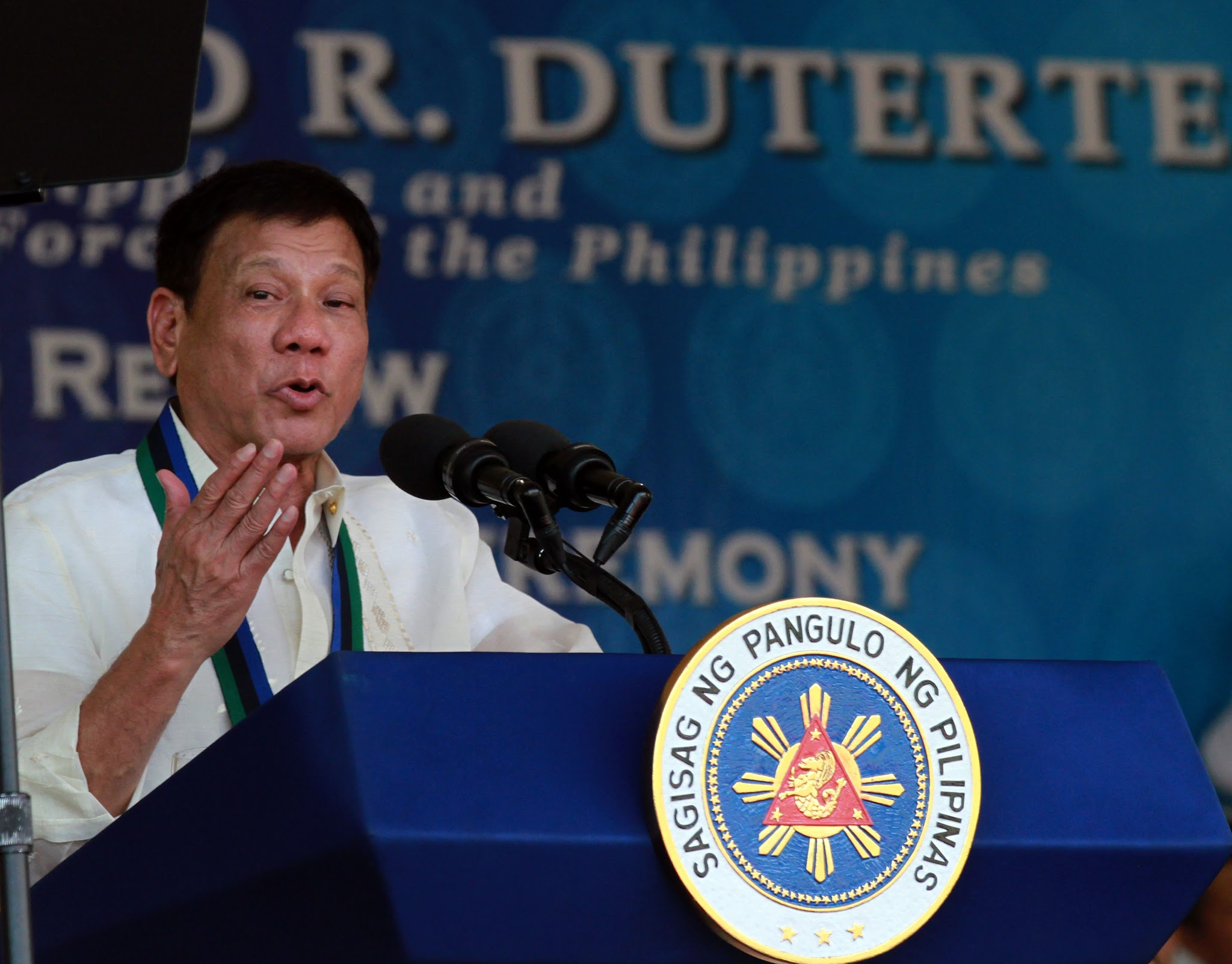 President Rodrigo Duterte speech 070116