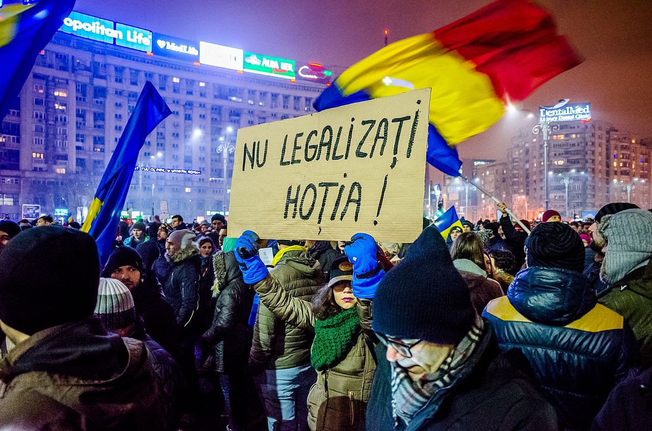 Protest against corruption - Bucharest 2017 - Piata Victoriei