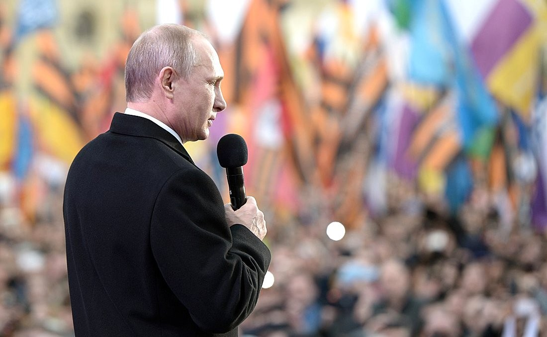 Russian President Putin speaking to a crowd in Crimea in 2015 (Kremlin.ru)