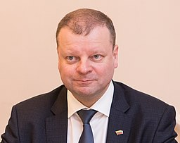 Saulius Skvernelis, Lithuania's Prime Minister. Photo: