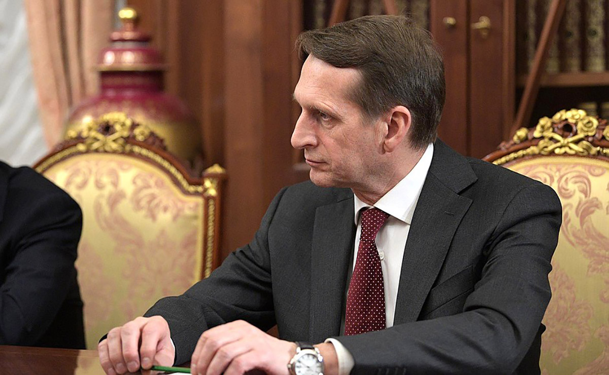 Director of the Russian Foreign Intelligence Service (SVR) Sergei Naryshkin. Four of his relatives were on a list of those who had received Golden Visas.