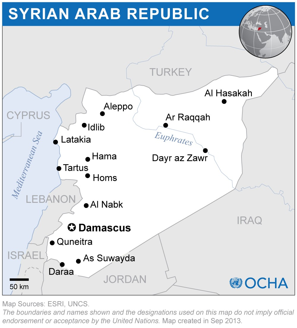 Syria Map OCHA copy