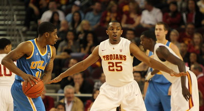 Image: USC basketball playing against UCLA (another southern California school. USC is a major American university.)