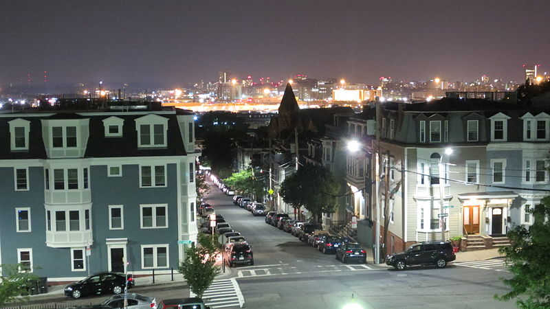 Boston's Dorchester neighborhood Where the NOB gang was based. (Source: Wikimedia Commons)
