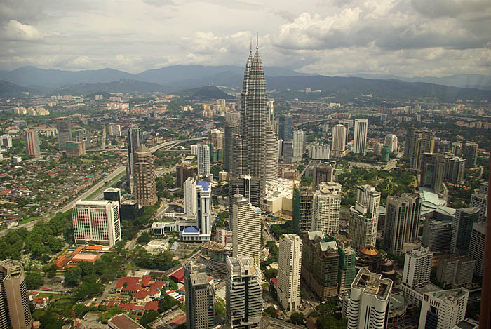 View to Golden Triangle from KL Tower