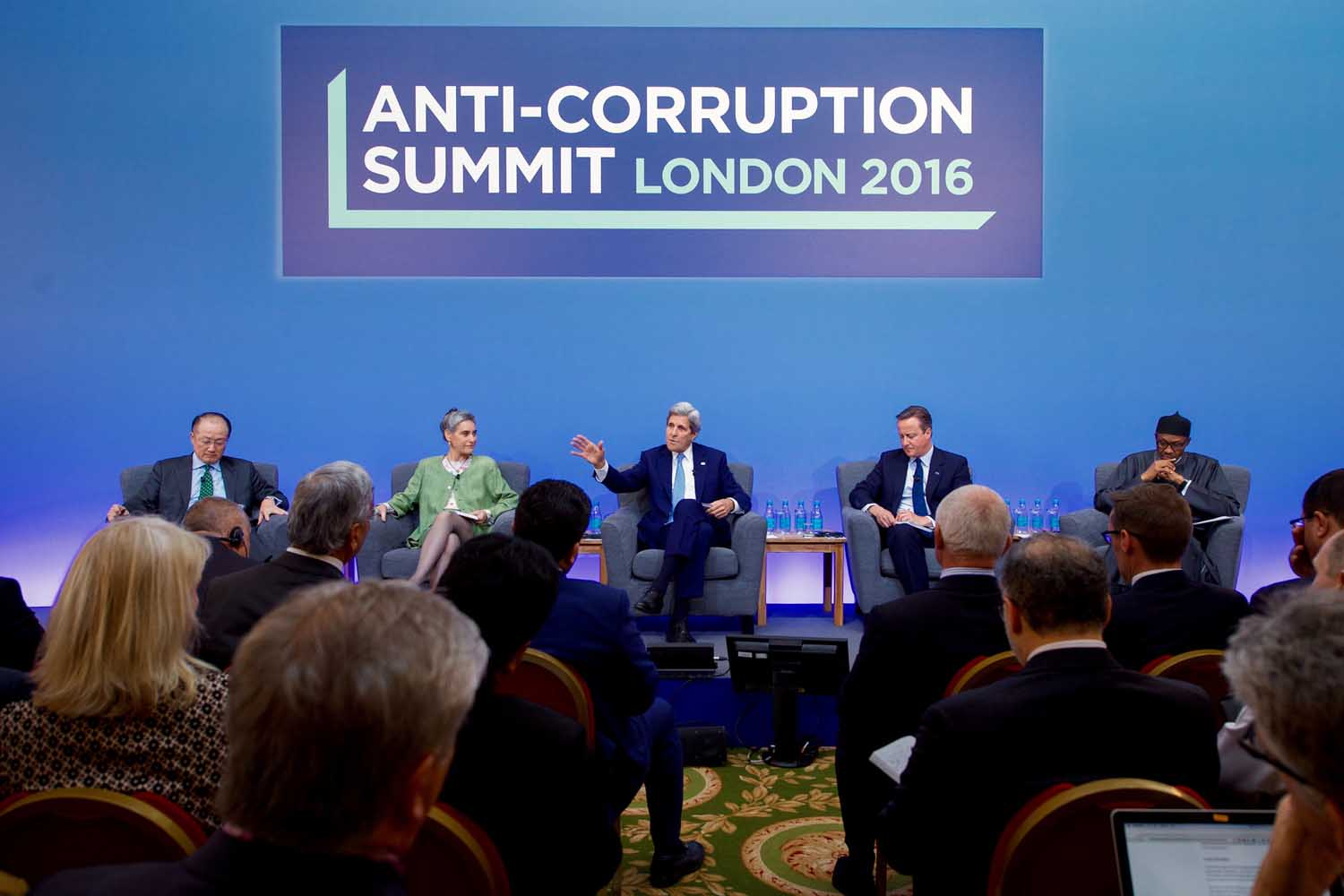 Secretary Kerry Joins British Prime Minister on Panel at Anti-Corruption Summit