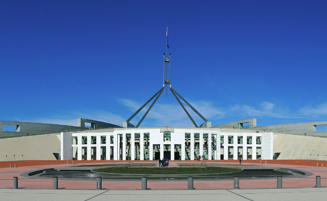 Australia's parliament is seen in 2008. (Courtesy John O'Neill)