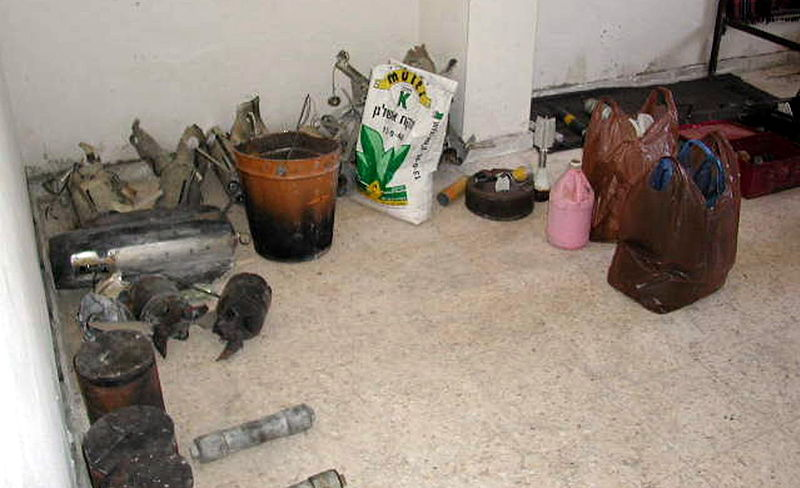 The makings for a home bomb (Israeli Defense Force)