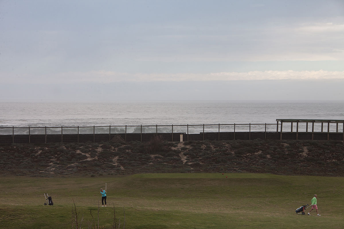 The Anglet seaside near Ocheretny's villa. (Olga Kravetz for Meduza)