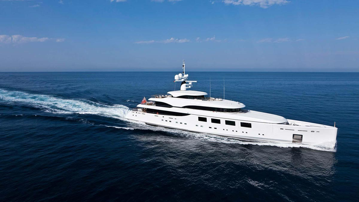 Baevskiy's boat the Rahil, formerly the Nataly, has won an award for best design. (Photo by: Benetti Yachts)