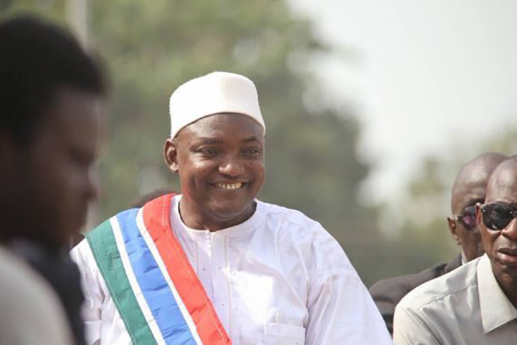 Adama Barrow, President of The Gambia since January 2017. Credit: Marvanda