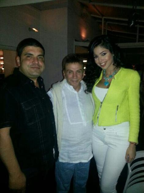 Antonio Chambra, Osmel Sousa, and Ana Carolina Ugarte (Miss Monagas 2013 and Venezuela's candidate for Miss World 2017). (Photo: missverdadoculta)