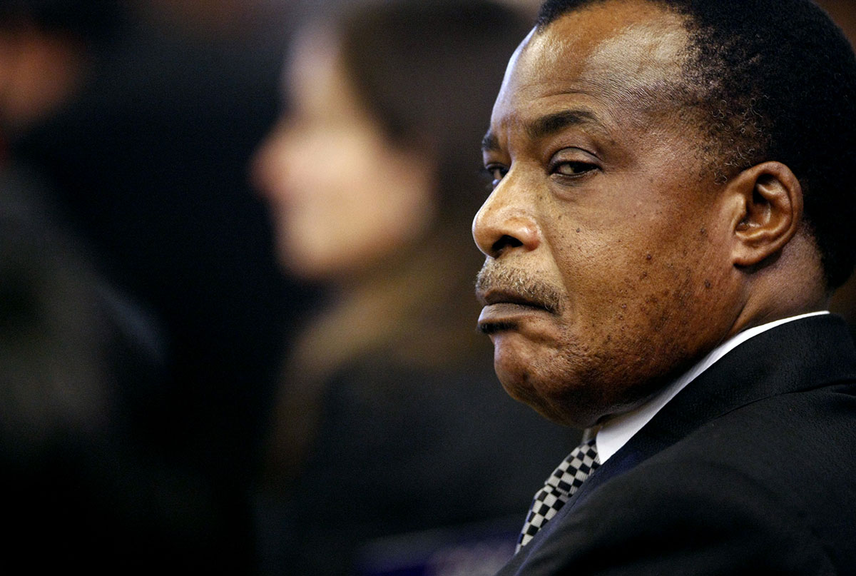 President of the Republic of Congo Denis Sassou-Nguesso at a Food Security Summit in Rome, 2009. Credit: Pier Paolo Cito / Reuters