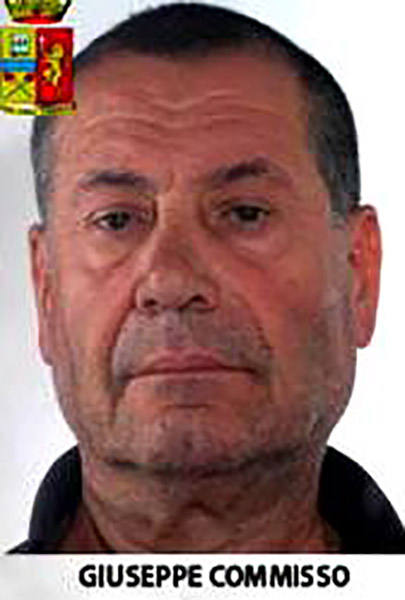Commisso Giuseppe, alias U'Mastru, boss of the Commisso clan of the 'Ndrangheta. (Photo: Italian Police)