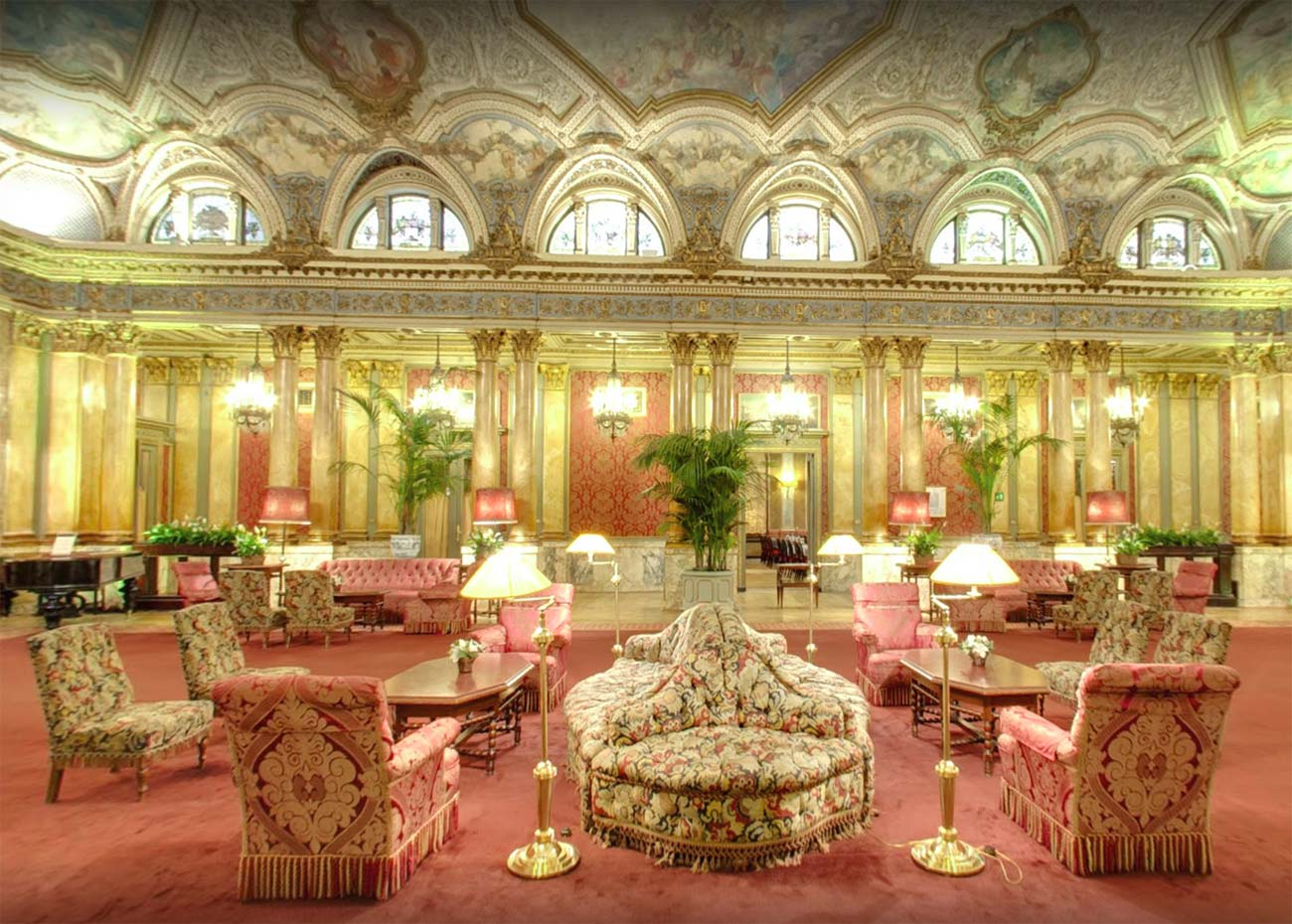 The Salone Delle Feste, a ballroom at Rome's five-star Grand Plaza Hotel. Photo from Google Maps