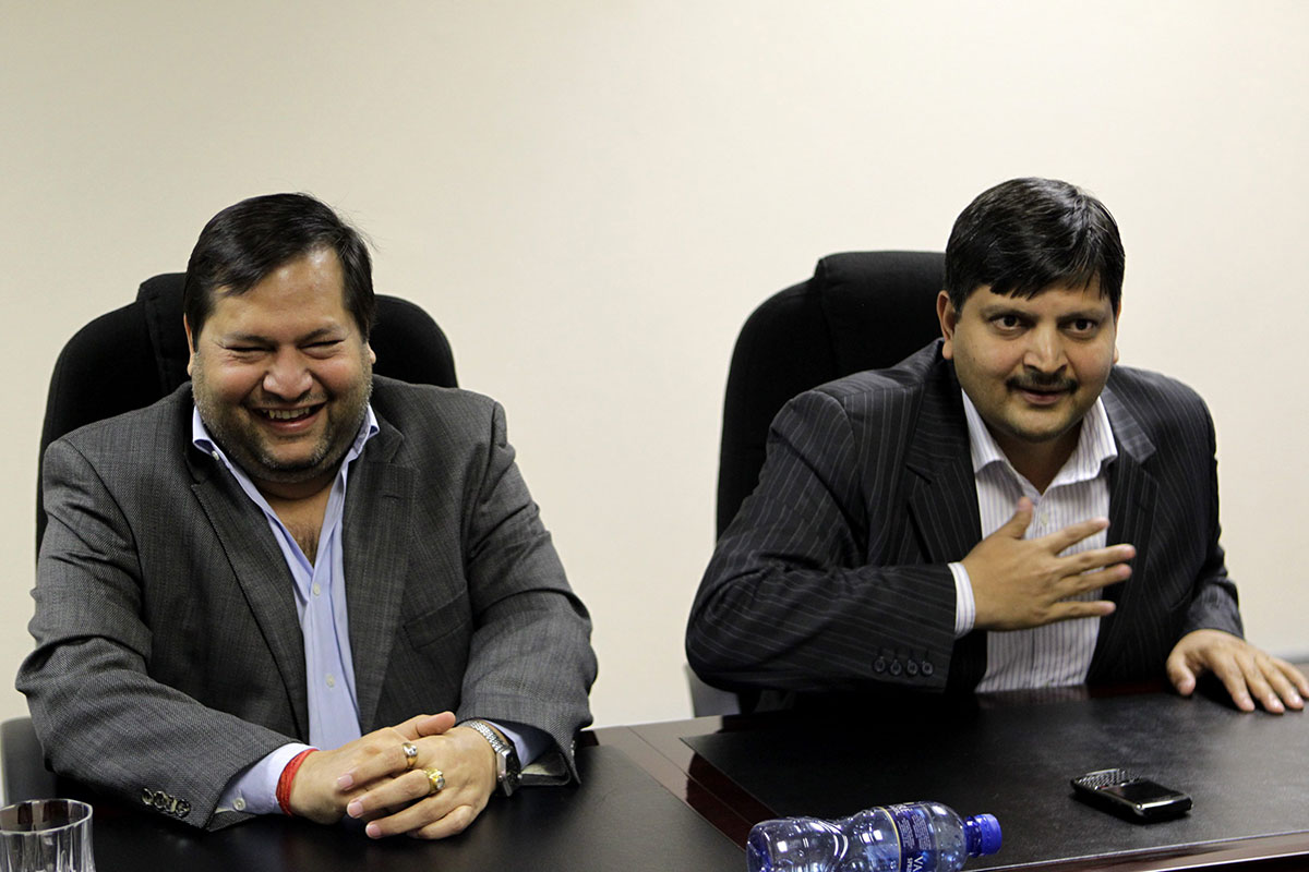 Indian businessmen Ajay and Atul Gupta in Johannesburg, South Africa on March 4, 2011. (Gallo Images/City Press/Muntu Vilakazi)