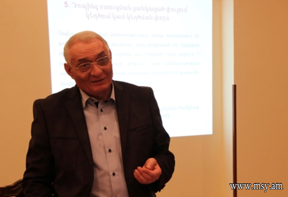 Areg Hovhannisyan, head of Armenia's anti-doping agency. (Photo: Ministry of Sport and Youth Affairs)